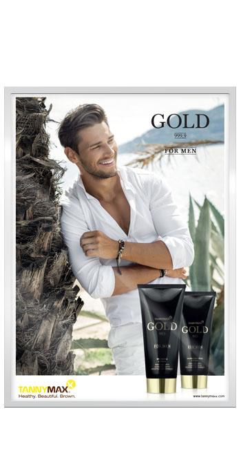 Рекламный постер линии Gold 999.9 for Men